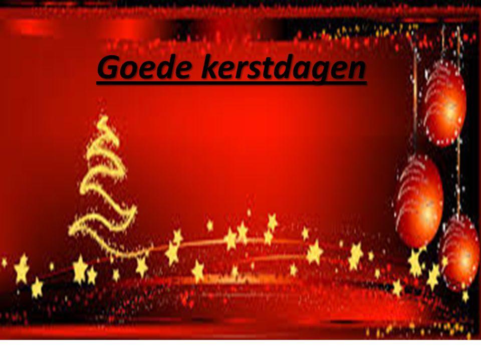 Goede kerstdagen