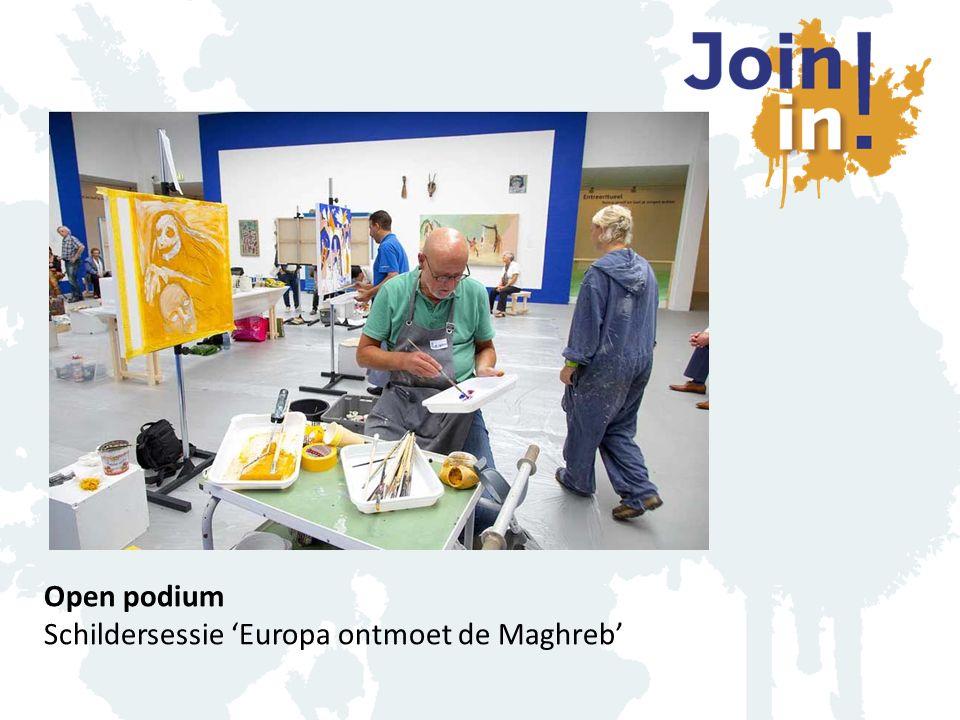 Open podium Schildersessie 'Europa ontmoet de Maghreb'