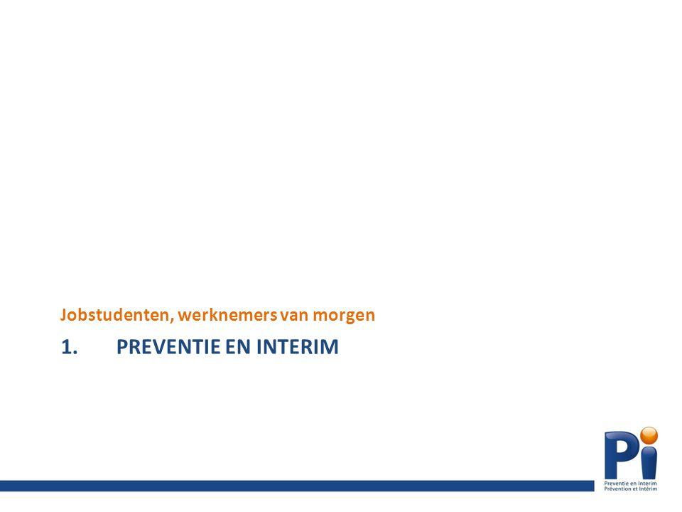 1.PREVENTIE EN INTERIM Jobstudenten, werknemers van morgen