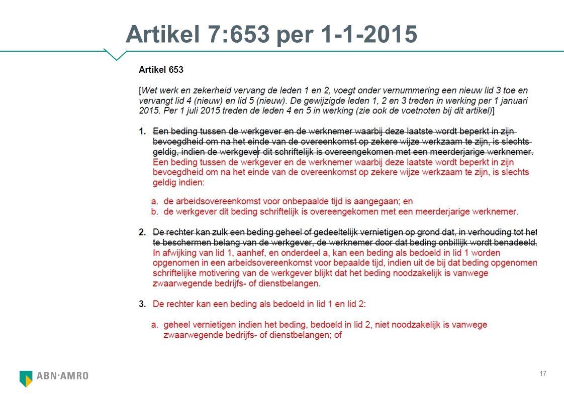 Artikel 7:653 per 1-1-2015 17