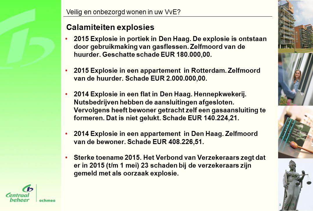 Calamiteiten explosies 2015 Explosie in portiek in Den Haag.