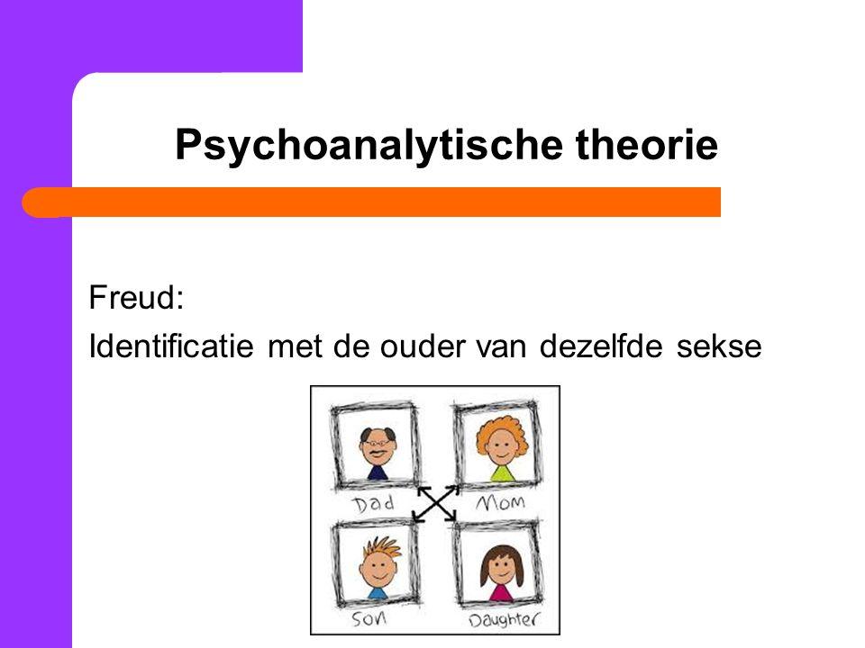Psychoanalytische theorie Freud: Identificatie met de ouder van dezelfde sekse