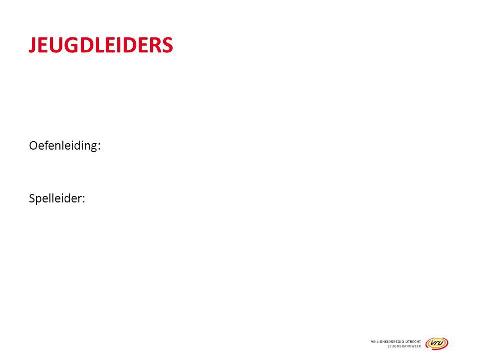 JEUGDLEIDERS Oefenleiding: Spelleider:
