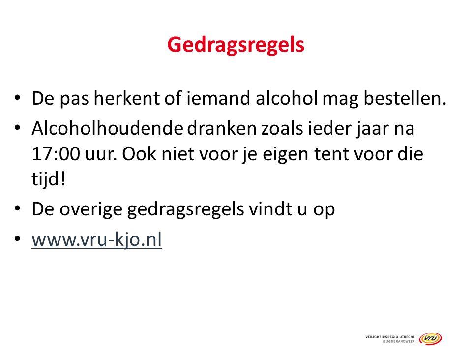 Gedragsregels De pas herkent of iemand alcohol mag bestellen.