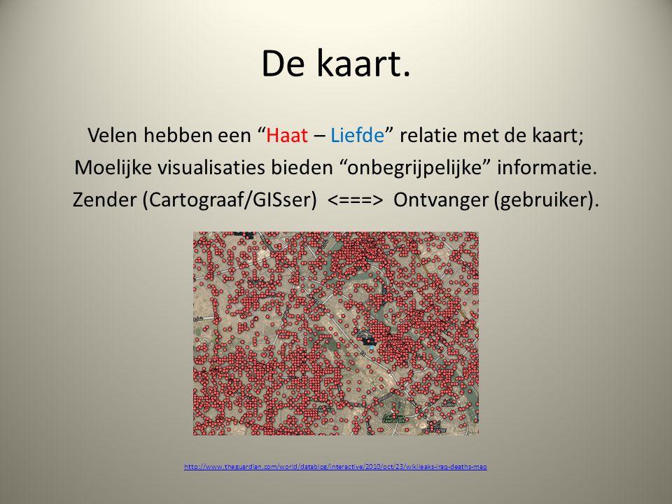 De Internetkaart (Connecties & Communicatie).Dynamisch: enkel zoomen.