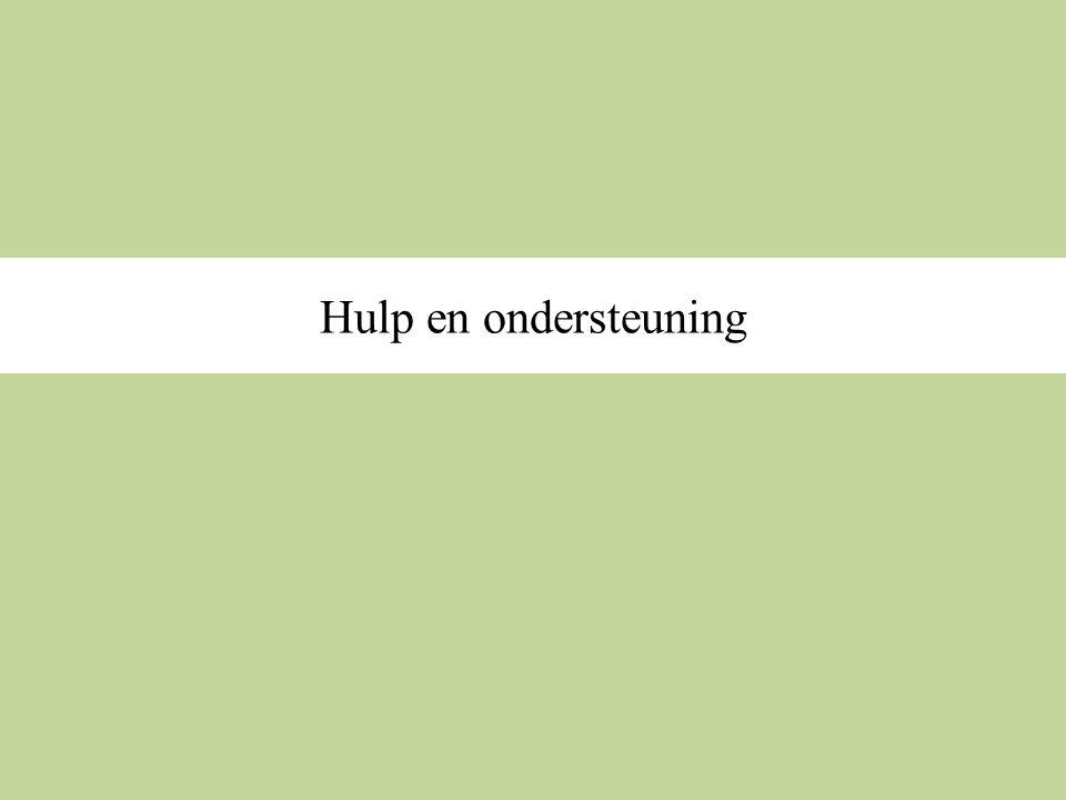 Hulp en ondersteuning