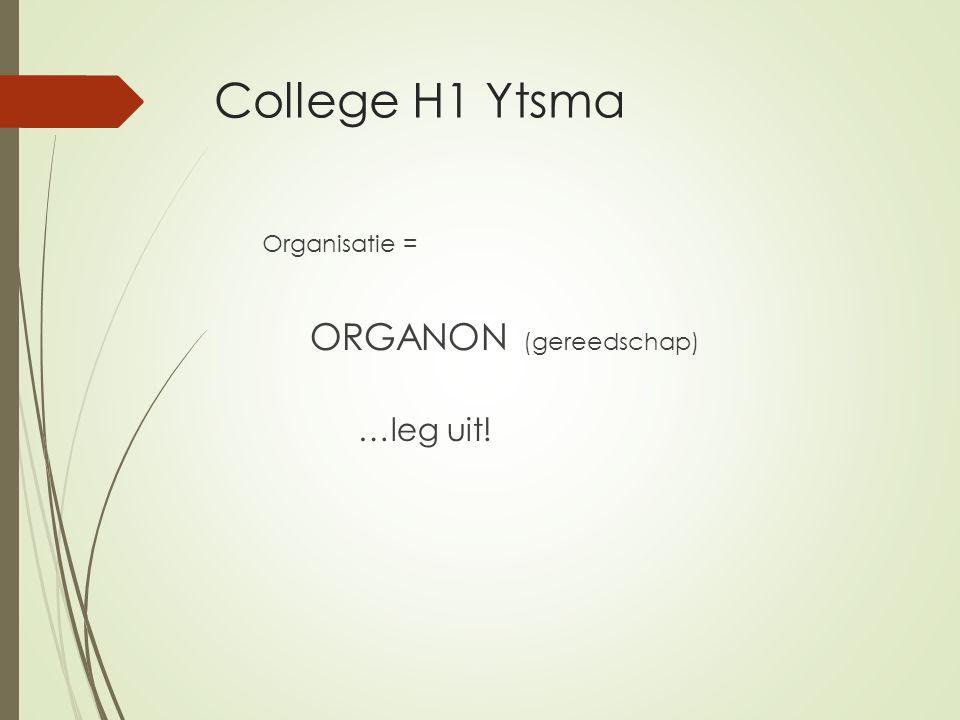 Stap 1: situatieanalyse 1.1 Visie  huidige situatie in en om de organisatie.