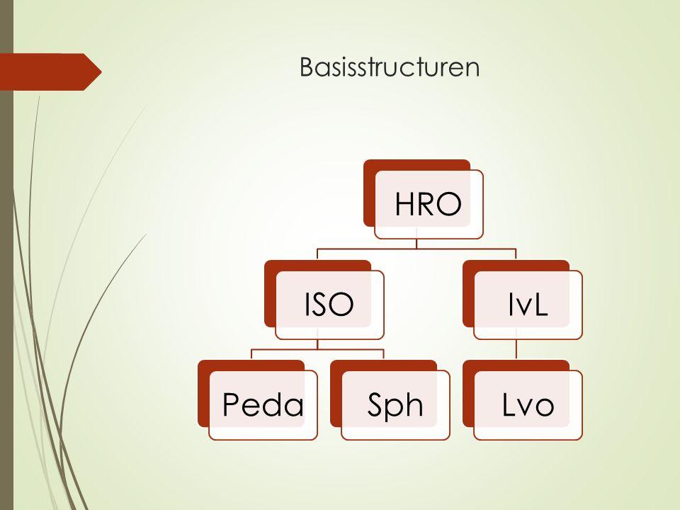 Basisstructuren HROISOPedaSphIvLLvo