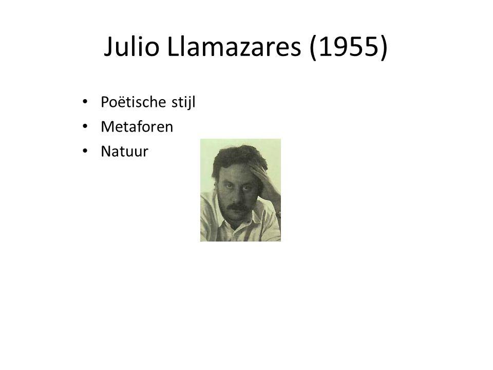 Julio Llamazares (1955) Poëtische stijl Metaforen Natuur