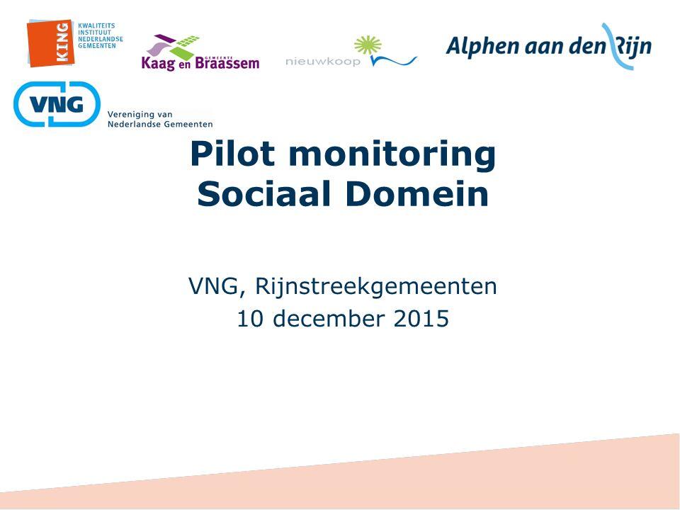 Pilot monitoring Sociaal Domein VNG, Rijnstreekgemeenten 10 december 2015