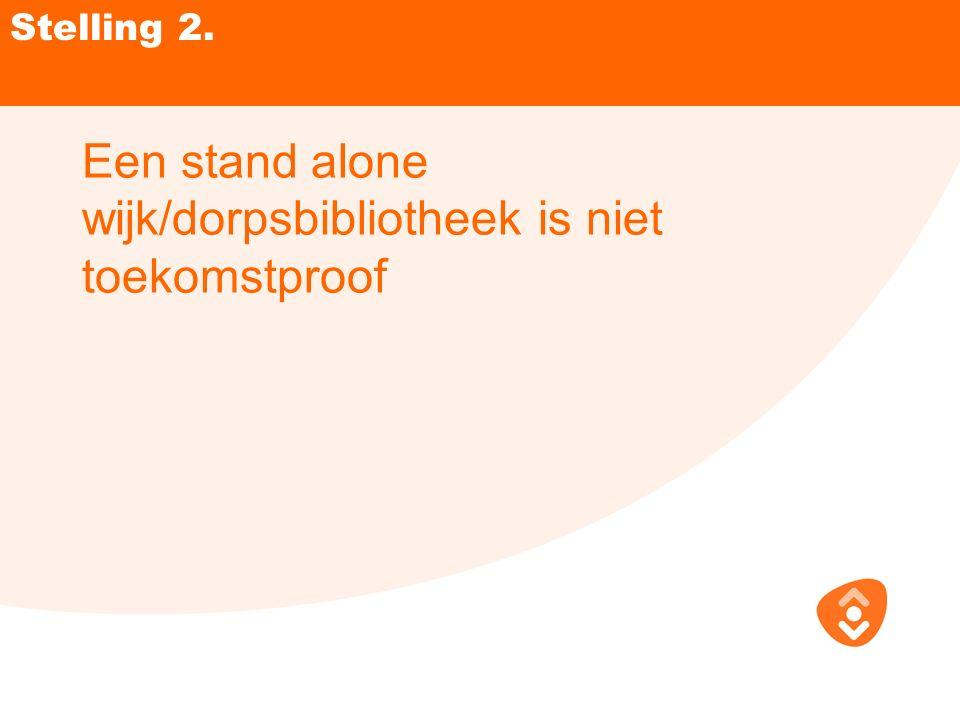 Stelling 2. Een stand alone wijk/dorpsbibliotheek is niet toekomstproof