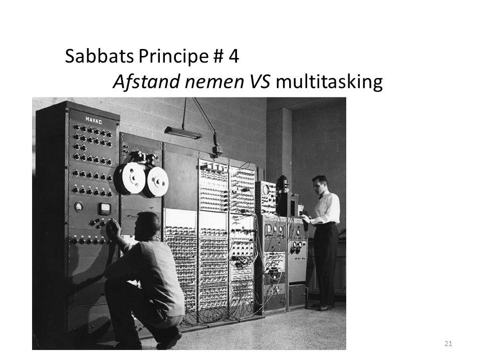 21 Sabbats Principe # 4 Afstand nemen VS multitasking