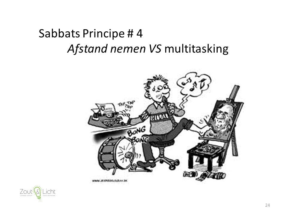 24 Sabbats Principe # 4 Afstand nemen VS multitasking