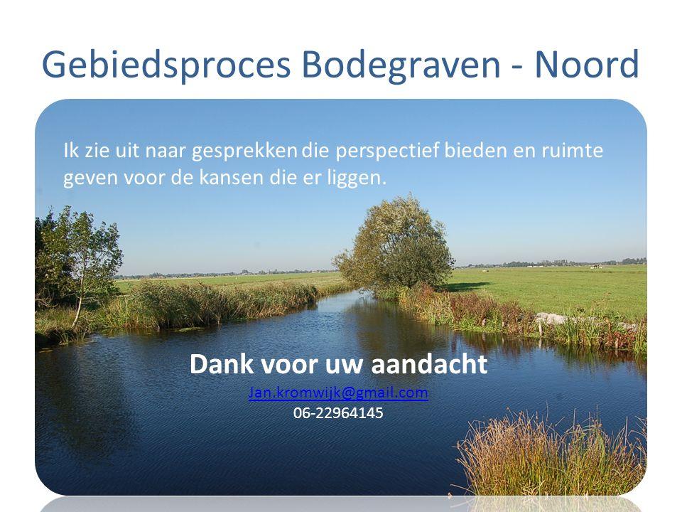 Gebiedsproces Bodegraven - Noord Ik zie uit naar gesprekken die perspectief bieden en ruimte geven voor de kansen die er liggen. Dank voor uw aandacht
