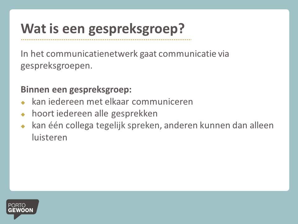 Wat is een gespreksgroep?