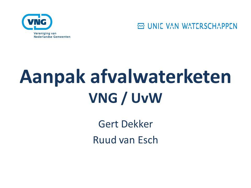 Aanpak afvalwaterketen VNG / UvW Gert Dekker Ruud van Esch
