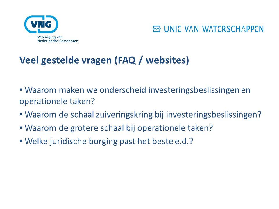 Veel gestelde vragen (FAQ / websites) Waarom maken we onderscheid investeringsbeslissingen en operationele taken.