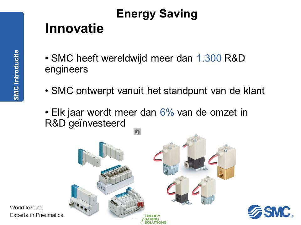 World leading Experts in Pneumatics Energy Saving Precisie, nauwkeurigheid en betrouwbaarheid zijn onze ingrediënten voor het bereiken van de hoogst h