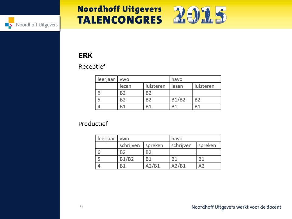 9 ERK Receptief Productief