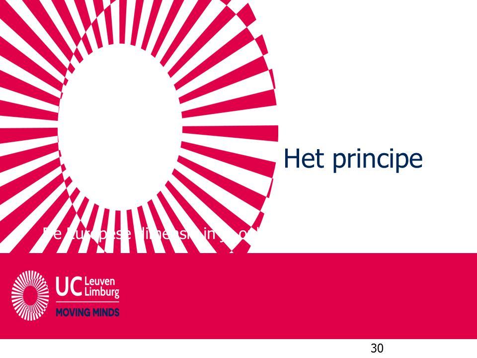 Het principe De Europese dimensie in je opleiding 30