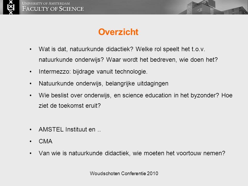 Woudschoten Conferentie 2010 Overzicht Wat is dat, natuurkunde didactiek.