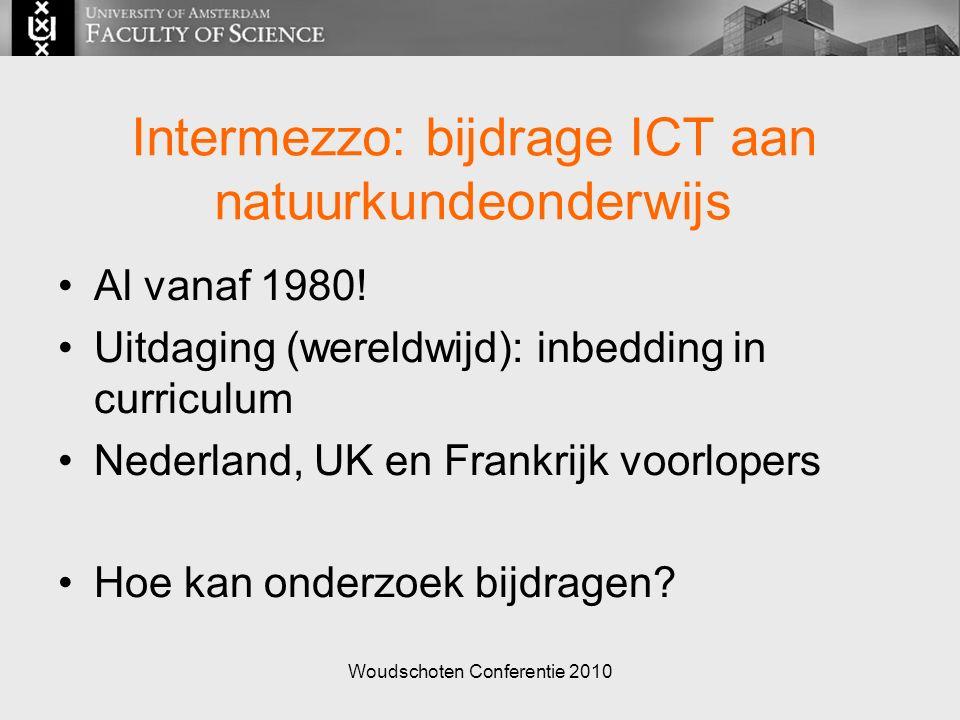 Woudschoten Conferentie 2010 Intermezzo: bijdrage ICT aan natuurkundeonderwijs Al vanaf 1980.