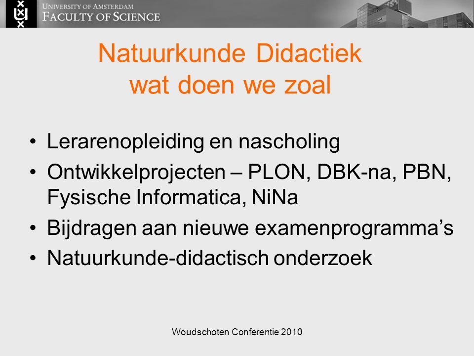 Woudschoten Conferentie 2010 Natuurkunde Didactiek wat draagt het bij.