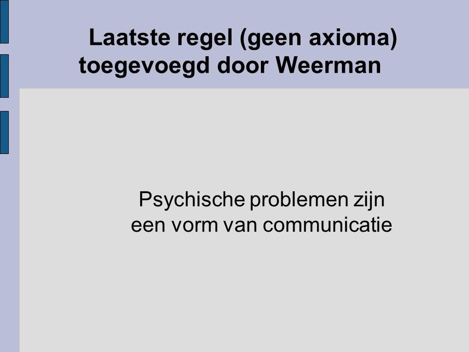 Laatste regel (geen axioma) toegevoegd door Weerman Psychische problemen zijn een vorm van communicatie