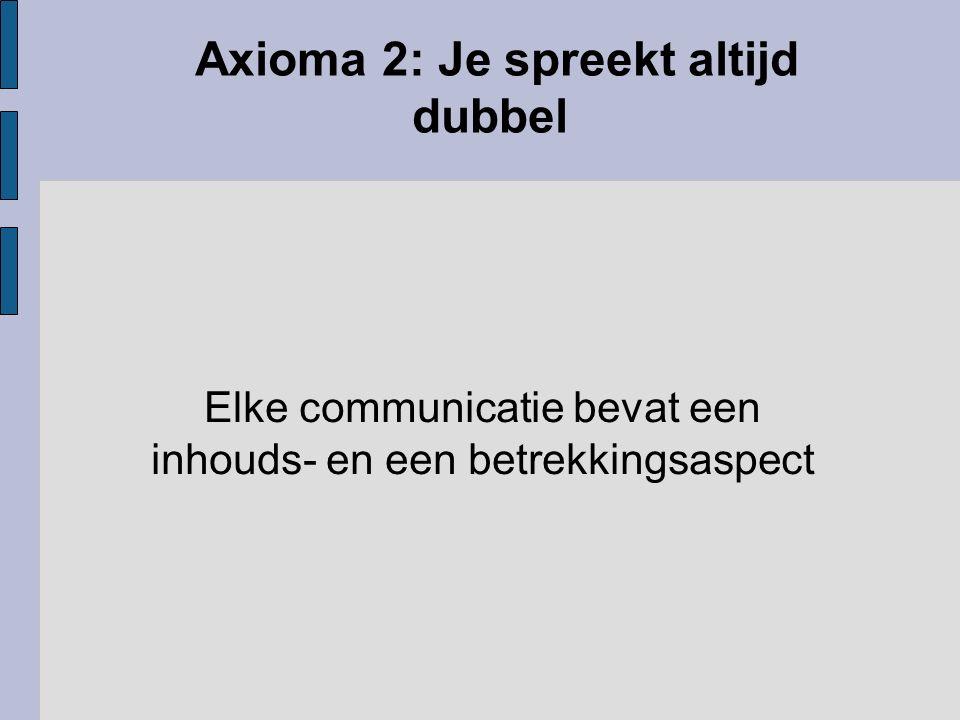 Axioma 3: Elk zijn waarheid Interpunctieproblemen, men is het oneens over de oorzaak van een verschijnsel