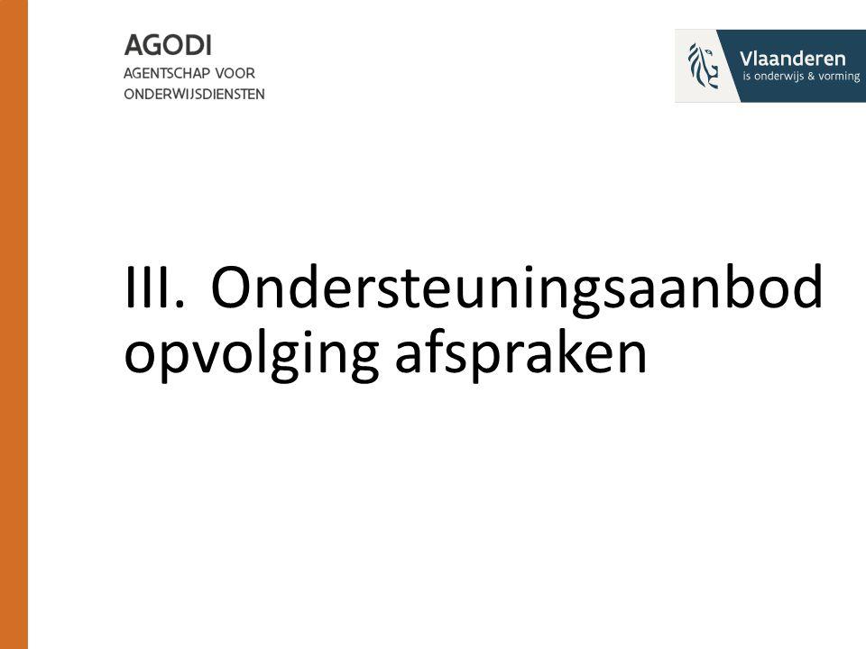 III.Ondersteuningsaanbod opvolging afspraken