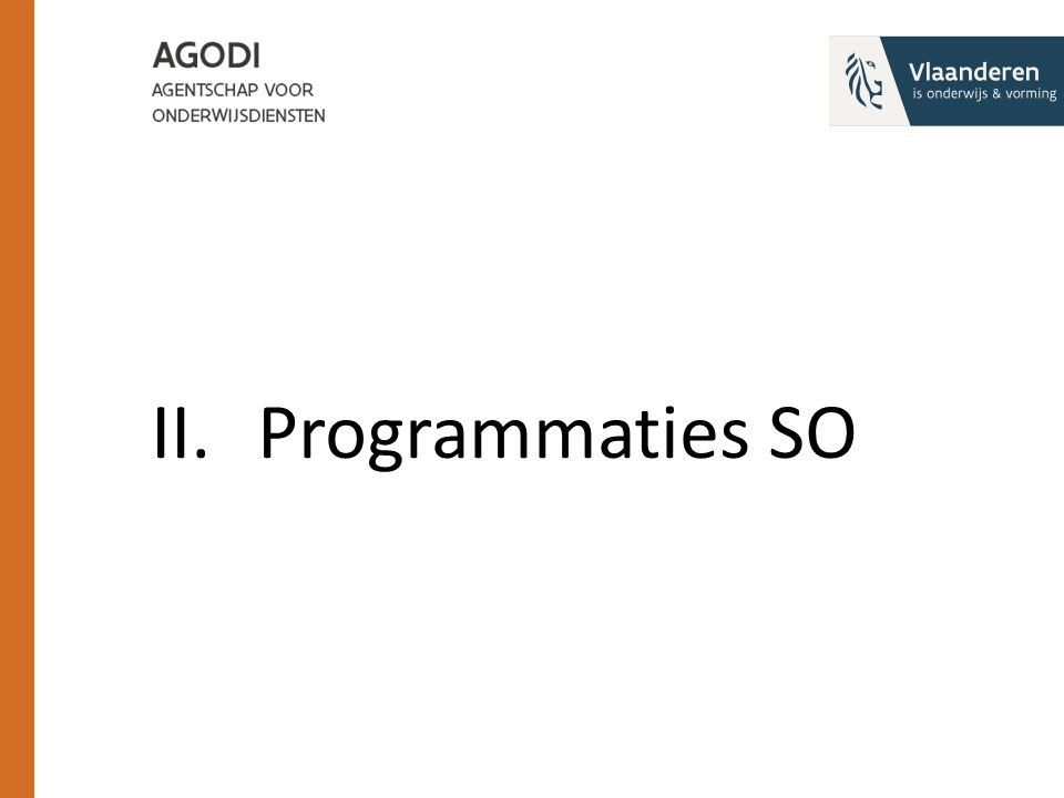 II.Programmaties SO