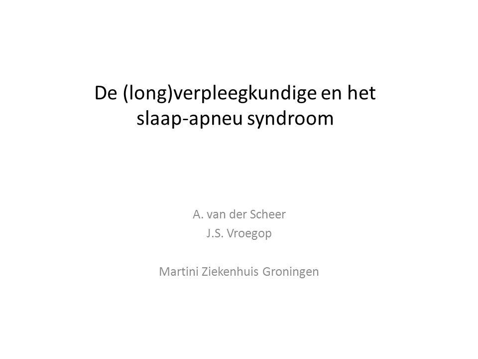 De (long)verpleegkundige en het slaap-apneu syndroom A.
