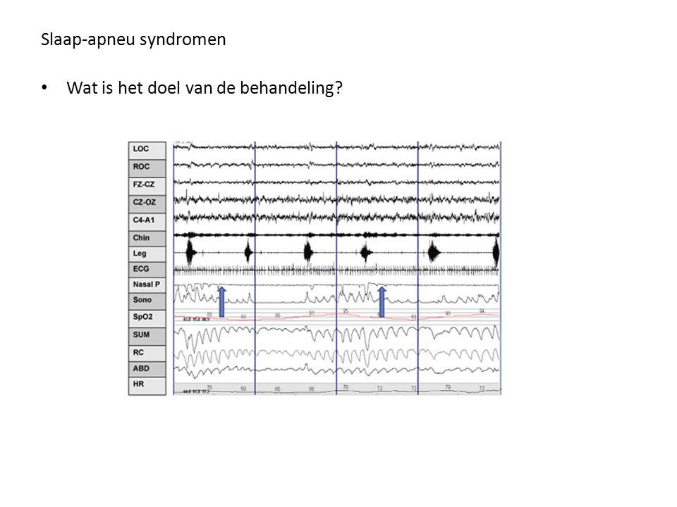 Slaap-apneu syndromen Wat is het doel van de behandeling?