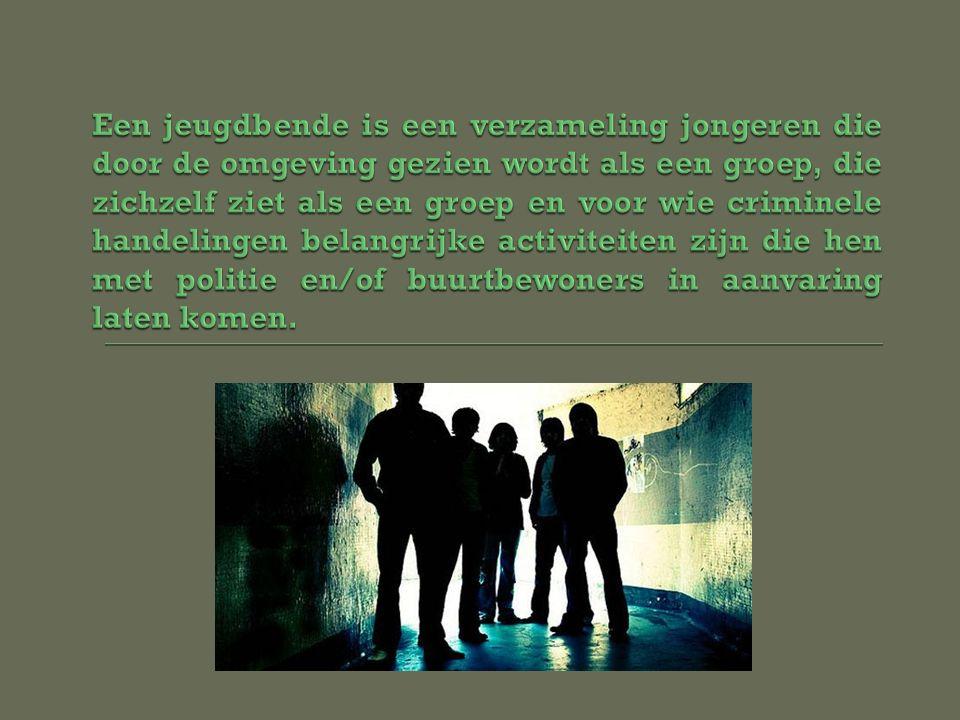 De cultuur van de groep  Hebben contact met andere groepen  Vooral jongens die in de drugshandel en –transport zitten  Eigen territorium 'toegeëigend' door hun eigen naam op de plek te graveren