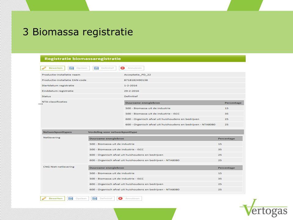3 Biomassa registratie
