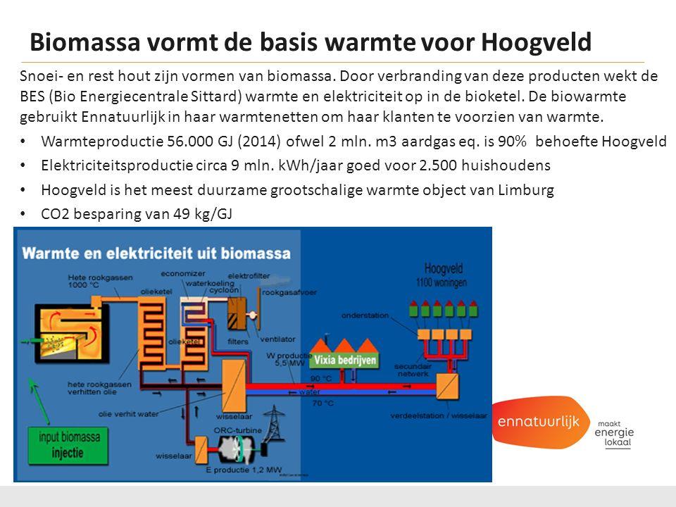 Biomassa vormt de basis warmte voor Hoogveld Snoei- en rest hout zijn vormen van biomassa.