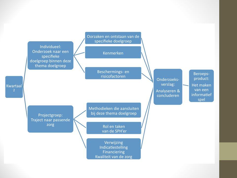 Toetsing & beoordeling Producten groep: Samenwerkingscontract (kwartaal 1) Onderzoeksplan (kwartaal 1) Onderzoeksverslag (kwartaal 2) Beroepsproduct (kwartaal 2) Producten individueel: Individueel onderzoek (kwartaal2) Procesverslag (kwartaal 2) Toetscriteria: Technische vereisten Inhoudelijke vereisten 3 EC 4 EC