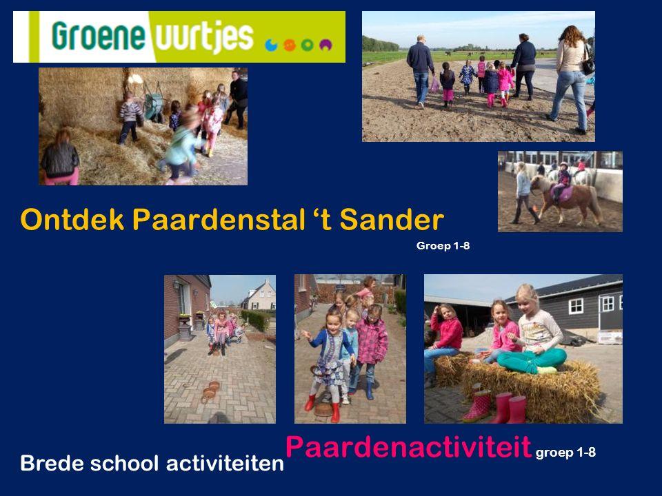 Ontdek Paardenstal 't Sander Groep 1-8 Paardenactiviteit groep 1-8 Brede school activiteiten