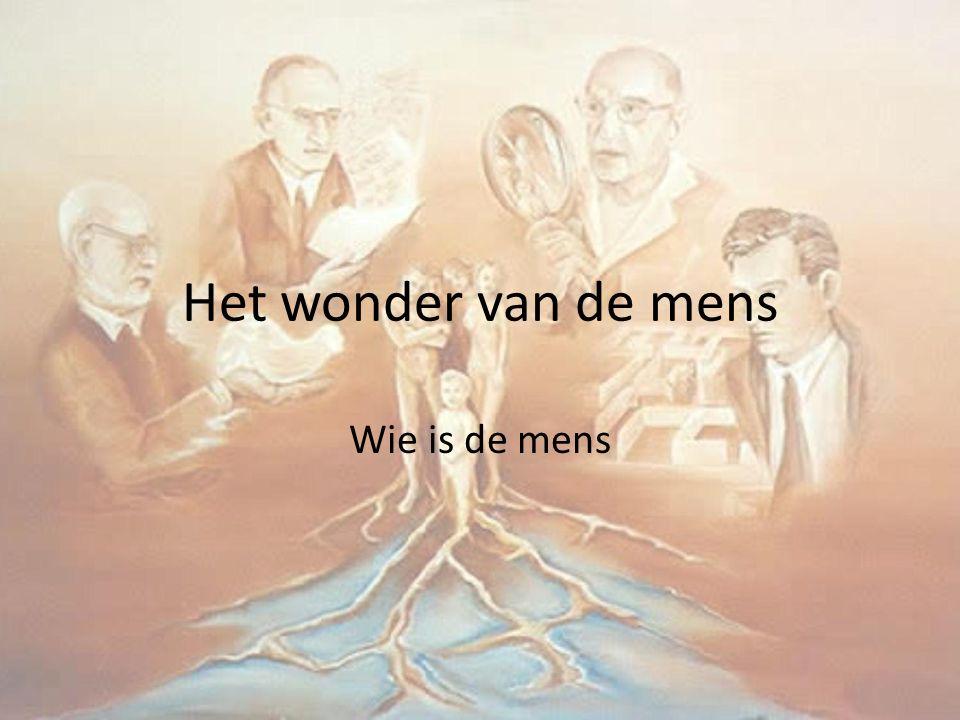 Het wonder van de mens Wie is de mens