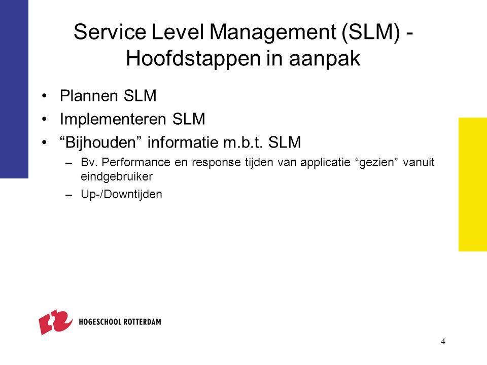 5 Gelaagd model voor Service management