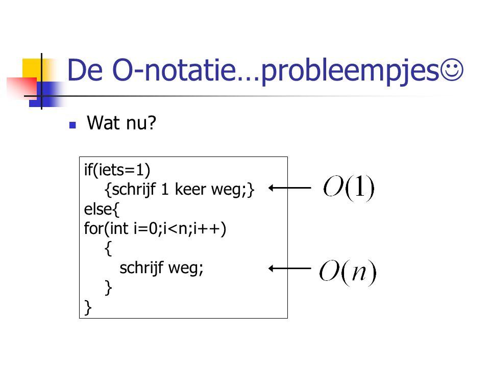 De O-notatie…probleempjes Wat nu.