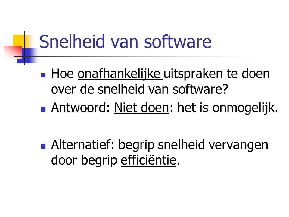 Snelheid van software Hoe onafhankelijke uitspraken te doen over de snelheid van software.