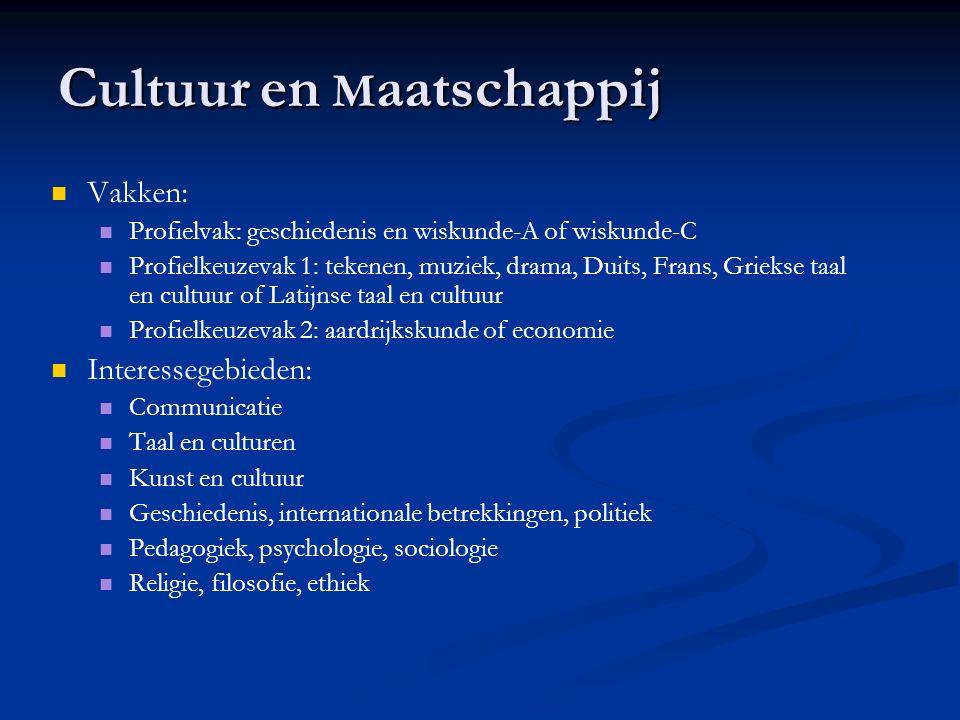 Vakken: Profielvak: geschiedenis en wiskunde-A of wiskunde-C Profielkeuzevak 1: tekenen, muziek, drama, Duits, Frans, Griekse taal en cultuur of Latij