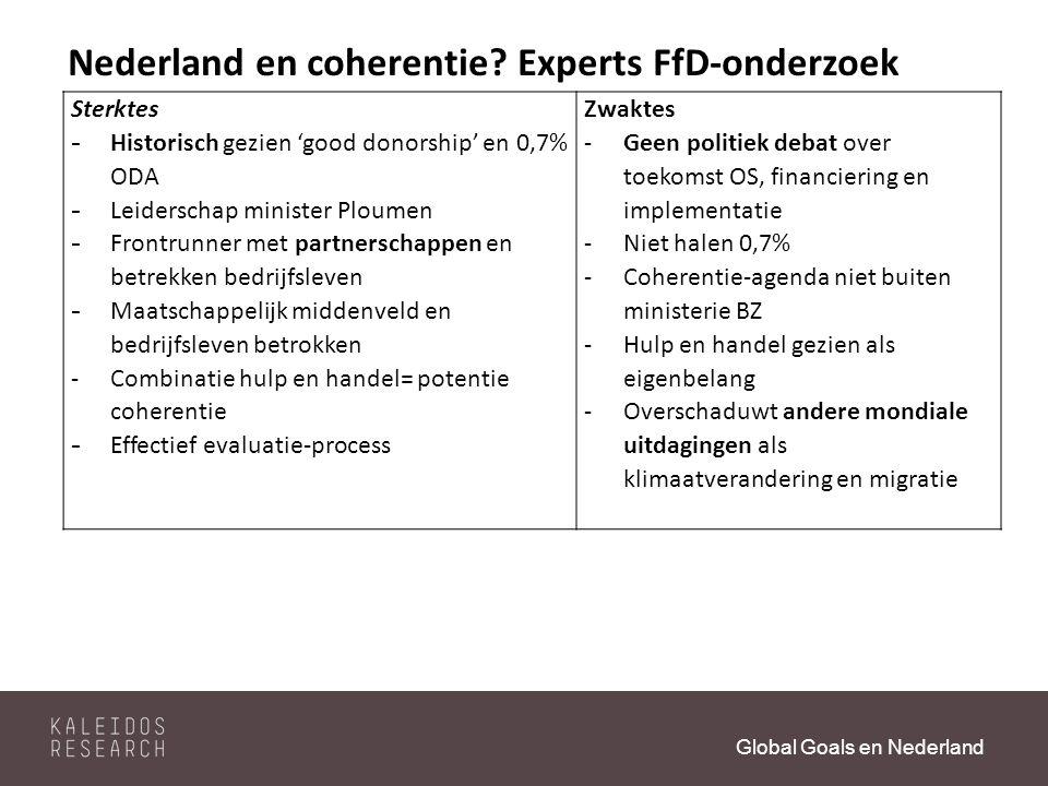 Global Goals en Nederland Nederland en coherentie.