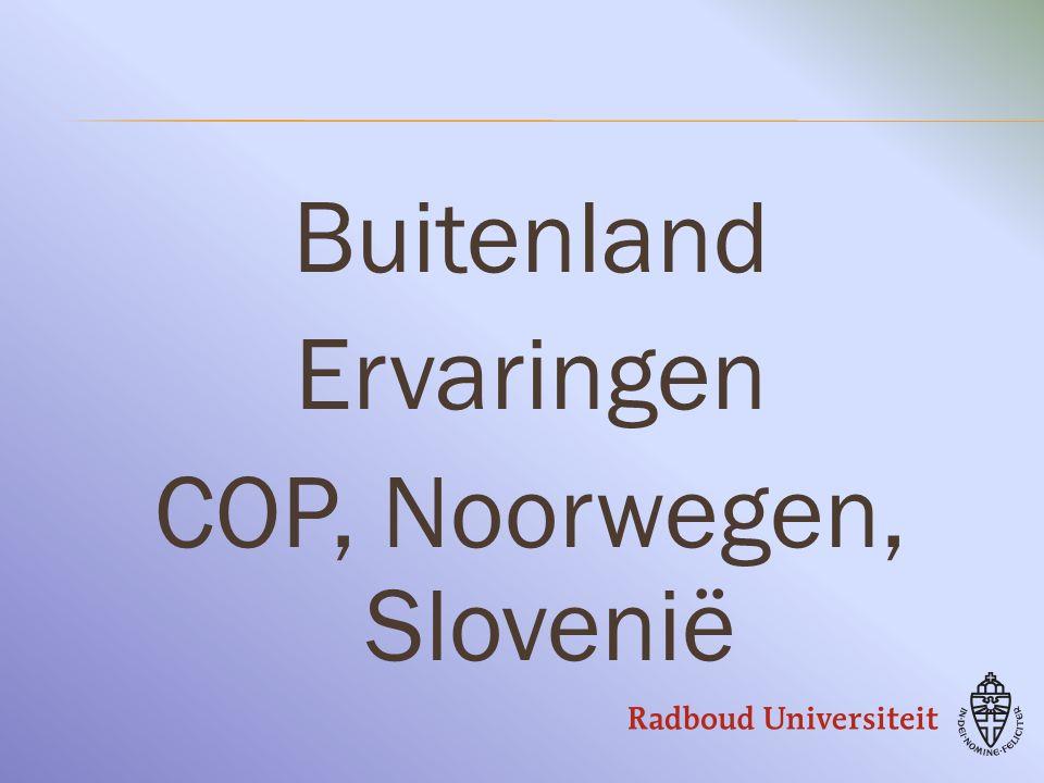 Buitenland Ervaringen COP, Noorwegen, Slovenië