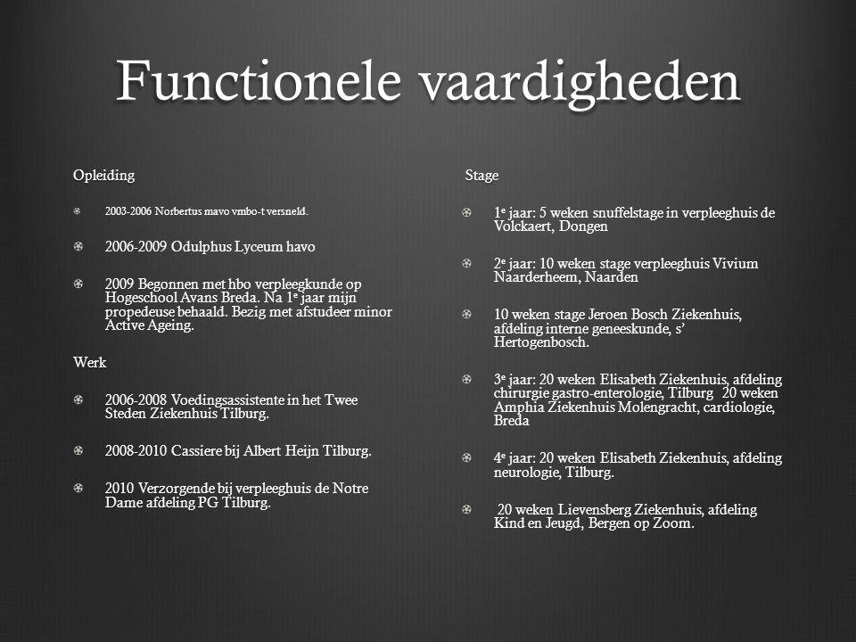 Functionele vaardigheden Opleiding 2003-2006 Norbertus mavo vmbo-t versneld.