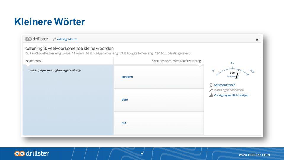 www.drillster.com * Kleinere Wörter