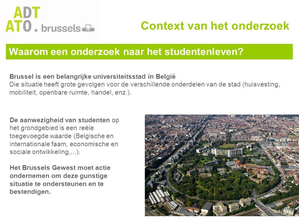 Het studentenleven verbeteren zodat … -… de studenten Brussel blijven kiezen voor hun hogere opleiding; -… de studenten investeren in de stad; -… de studenten in het Brussels Gewest blijven na de voltooiing van hun studie.