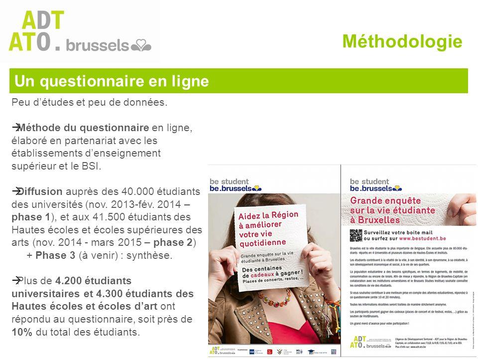 Un questionnaire en ligne Peu d'études et peu de données.  Méthode du questionnaire en ligne, élaboré en partenariat avec les établissements d'enseig