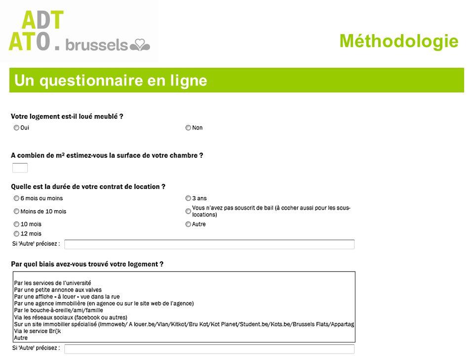 Un questionnaire en ligne Méthodologie